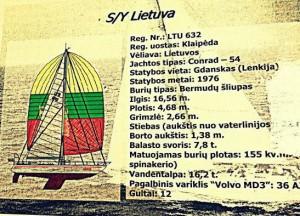 jachta lietuva brezinys